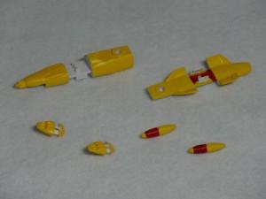 メカコレ2199 ゆきかぜに黄色を塗ったパーツ